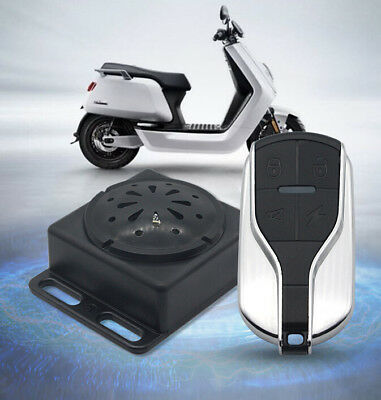 48V-72V Electric Scooter Bike Alarm Vibration Security System Remote Control