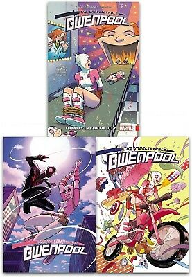 The Unbelievable Gwenpool Volume 1-3 Collection 3 Books Set Christopher Hastings