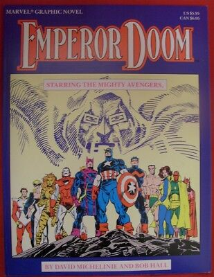 Marvel Graphic Novel Emperor Doom Mighty Avengers Comic 1St Print Hall 1987 Vf+