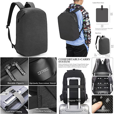 Water Resistant Laptop Backpack W USB Charging Port DTBG Anti Theft Business For