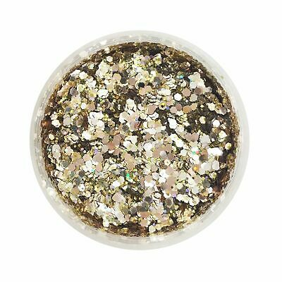 CHAMPAGNE SHOWERS GLITTER Chunky Cosmetic Glitter Body Glitter Pot Gold Glitter