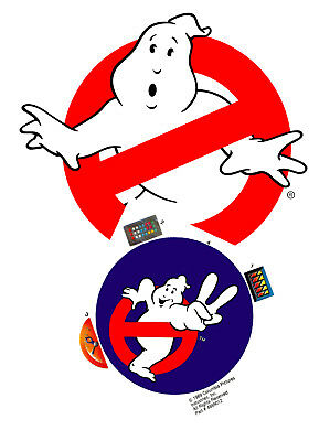 Replacement sticker/label/decal sheet Kenner Ghostbusters Ecto Charger Pack