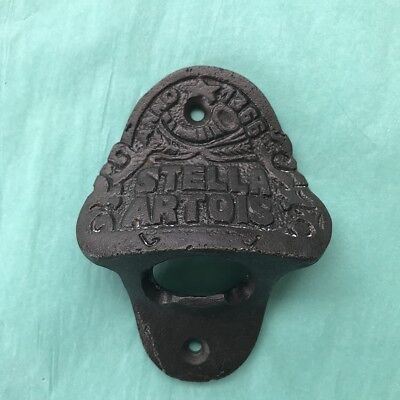 Stella Artois Bottle Top Opener Wall Mounted Vintage Antique Iron Retro Cast