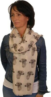 Gordon Setter scarf with dogs on mike sibley hand printed womens fashion wrap
