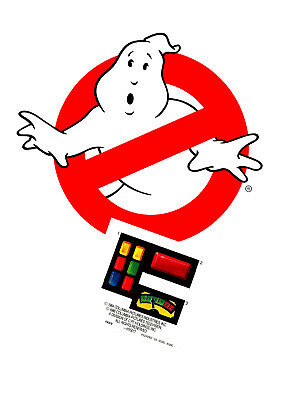 Replacement sticker/label/decal sheet Kenner Ghostbusters DIE CUT Ghost Trap