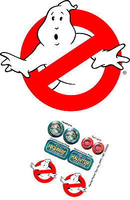 Replacement sticker/label/decal sheet Kenner Ghostbusters Highway Haunter