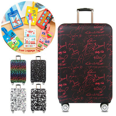 18-32 inch Letter Printed Suitcase Protective Case Elastic Travel Luggage Cover