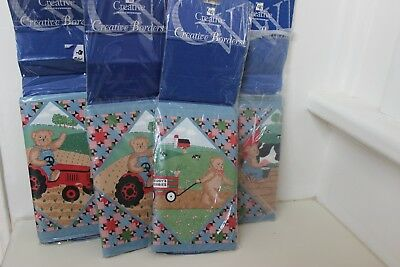 Creative Wall Coverings Creative Borders Bears & Co. Farm Theme 4 Packets x4.57M