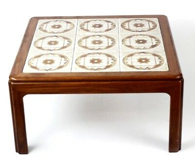 Vintage Tile Top Mahogany Coffee Table - FREE Shipping [PL4545]