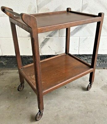 ANTIQUE VINTAGE CELLUS by LUSTY OAK DRINKS / TEA SERVING TROLLEY - TREATED WORM