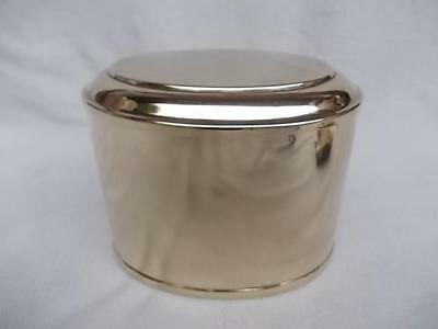 121 / Beautiful Antique Late 19Th Century Brass Caddy
