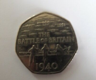 Battle Of Britain Fifty Pence 50p Coin 2015 Genuine Rare & Collectable
