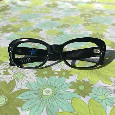 ORIGINAL VINTAGE NOS 1960s Glasses Spectacles Reading eye glasses Frames BLACK
