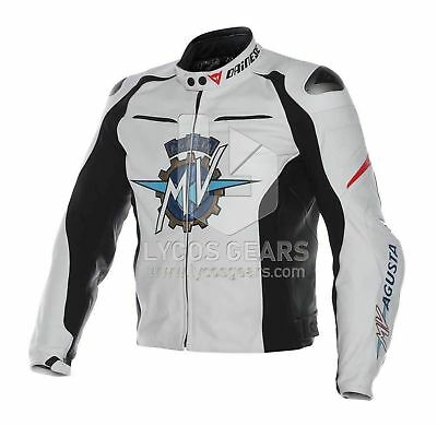 MV-Agusta-Motorbike-Racing-Leather-Jacket - Cowhide-Leather (All Sizes)
