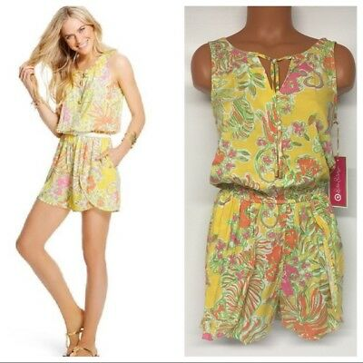 00e829f23c1 Lilly Pulitzer for Target Womens XS Challis Romper Happy Place Jumper