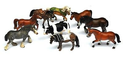 Lot of 8 Schleich Farm Animal Figures Draft Horse Thoroughbred Cow Fairy