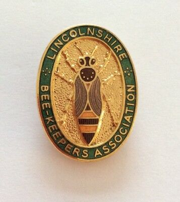 Scarce Lincolnshire Bee-Keepers Association Beekeeping Enamel Pin Badge