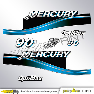 KIT autocollant MERCURY 90 cv quatre-temps efi optimax eau salée