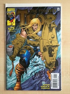 Thor #25 (2000) - Mighty Thor Gold Foil Cover - Double Signed - Dynamic Forces