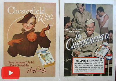 Tobacco Popular Advertising 1936-1950 vintage cigarette Ads lot x 10 Camel