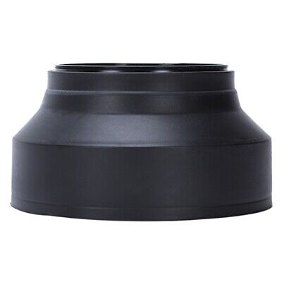Collapsible 3-Stage 67mm Screw In Rubber Lens Hood for DSLR Camera X4L4