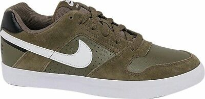 3206b443d5ac MENS NIKE SB Delta Force Vulc Suede   Leather Olive Shoes Trainers ...
