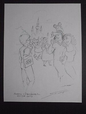 Disney's World & AAA Signed & Hand Drawn Print Concept Art by Mark Simon #MS3
