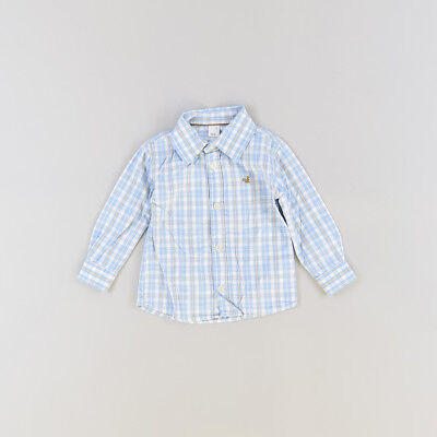 Camisa color Azul marca Tex 18 Meses