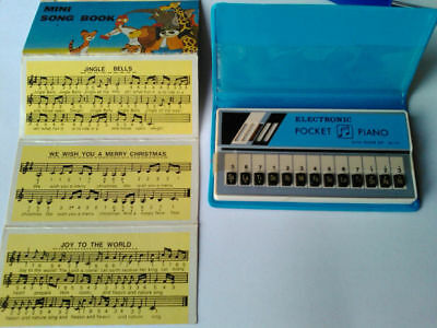 ELECTRON ECHO MINI PIANO MINI SONG BOOK VINTAGE Blue