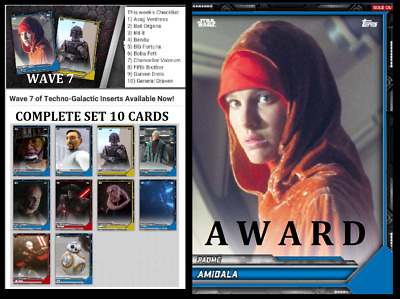 Topps Star Wars Card Trader Techno-Galactic Insert Wave 7  [Set 10 Cards]