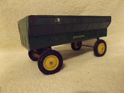 Vintage Ertl Toys--John Deere Farm Wagon--8'' Long--Very Rare--Great Patina