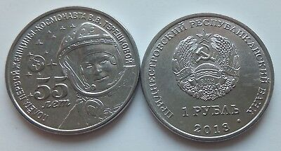 """Transnistria 1 rouble 2016 /""""First Flight into Space/"""" UNC"""