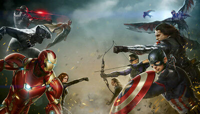 Avengers Super Hero Wall Art Wall Mural Any Size Self Adhesive Vinyl Decal V101