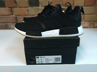 new style 81f40 e2e38 ADIDAS NMD_R1 BOOST Shoes Style B42200 Color Black/White/Gum