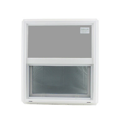 "Double Pane Window 24"" x 27"" Tempered Glass Low-E PVC Frame"
