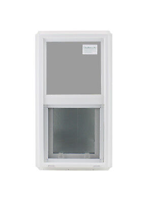 "Double Pane Window 14"" x 27"" Tempered Glass Low-E PVC Frame"
