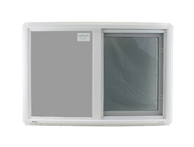 "Double Pane Window 36"" x 24"" Horizontal Slider Tempered Glass Low-E PVC Frame"