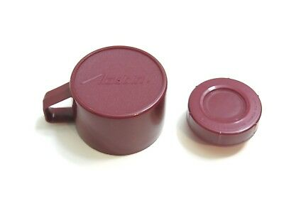 Original Aladdin Maroon Plastic Thermos Cup And Lid Replacement Parts Only