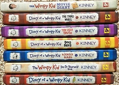 The wimpy kid do it yourself book by jeff kinney 500 picclick diary of a wimpy kid book series by jeff kinney 7 books hardcover like new solutioingenieria Choice Image
