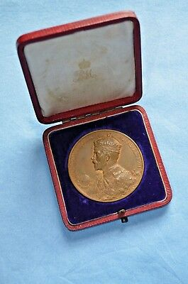 British Coronation Medal of George V and Queen Mary June 22, 1911 w/Original Box