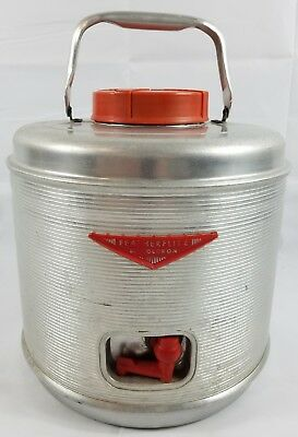 Vintage Aluminum Drink Cooler Jug Featherflite by Poloron Featherlite 2 Gallon