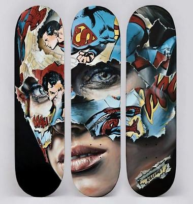 Sandra Chevrier Limited Edition 3 Skateboard Comics No Banksy No Martin Whatson