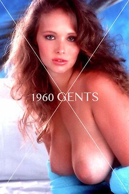 1980s NUDE 8X10 PHOTO BUSTY BIG NIPPLES BRUNETTE PINUP FROM ORIGINAL NEG-BR2