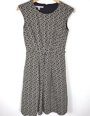 d06c37397ada8 Maggy London sleeveless fit and flare dress leopard animal print pockets  size 4