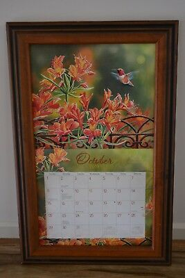 Lang / Legacy Calendar Frame Wooden Mahogany  Display your calendar