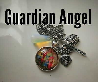 Code 310 Guardian Angel Opalite Infused Necklace  Pregnancy IVF Fertility Birth