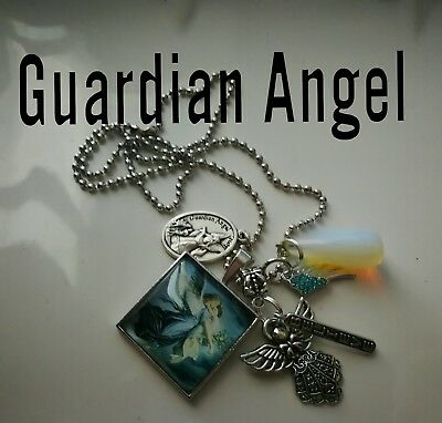 Code 330 Guardian Angel Opalite Infused Necklace  Pregnancy IVF Fertility Birth