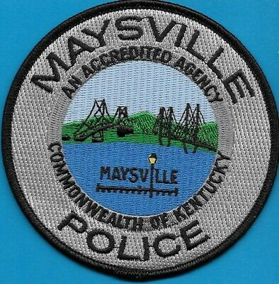 Maysville Kentucky Ky Police Dept Bridge Lamp Post Mpd Pd (Fire) Commonwealth