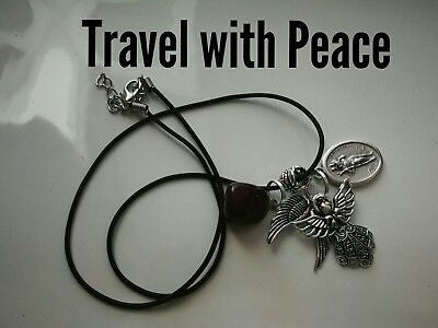 Code 297 Travel with Peace Saint Christopher Archangel Raphael infused Necklace