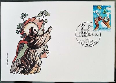San Marino 1982 FDC Religious Stamps Cover Cachet